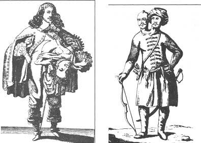 Старинная гравюра с изображением соединенных близнецов