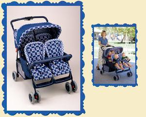 JMason Multiples Strollers Коляска для четверни с капюшеном
