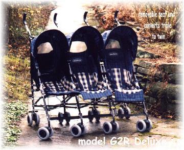 Model G2 De Luxe in Navy/Sandstone Прогулочная коляска для тройни