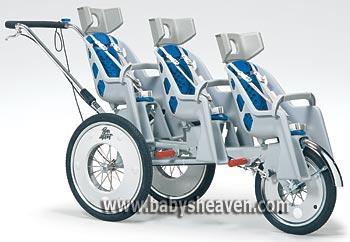 Runabout Triple Stroller Спортивная, высокой проходимости, прогулочная коляска для тройни