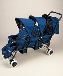 JMason Triple Stroller Model I3949 Коляска для тройни - ТАНДЕМ
