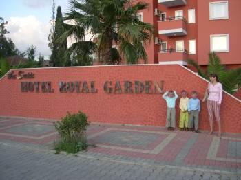 Встреча тройняшек по-турецки!  Royal Garden, центральный вход